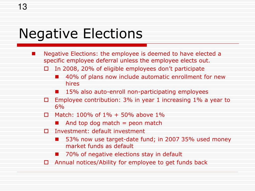 Negative Elections