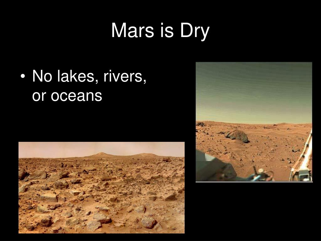 Mars is Dry