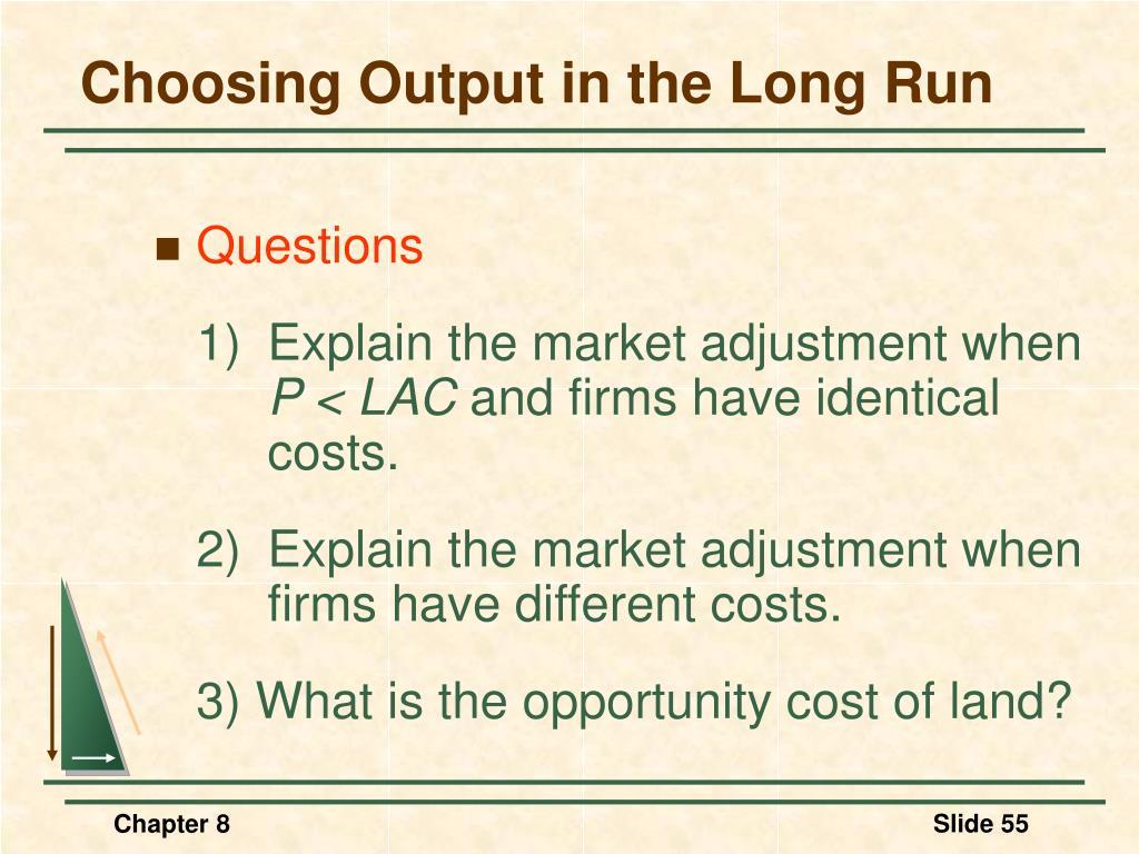 Choosing Output in the Long Run