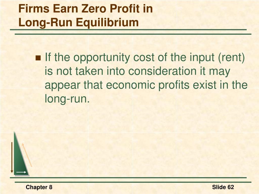 Firms Earn Zero Profit in