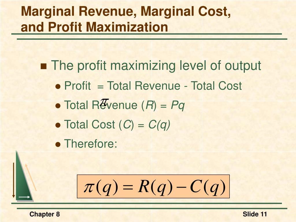 Marginal Revenue, Marginal Cost,