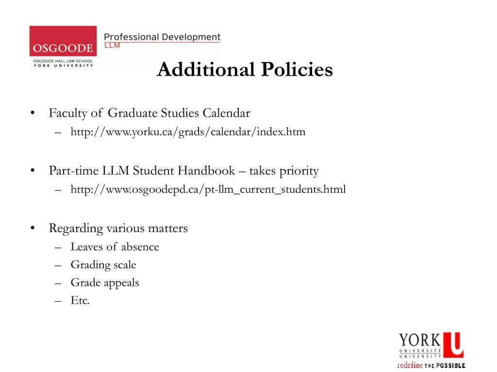 Additional Policies