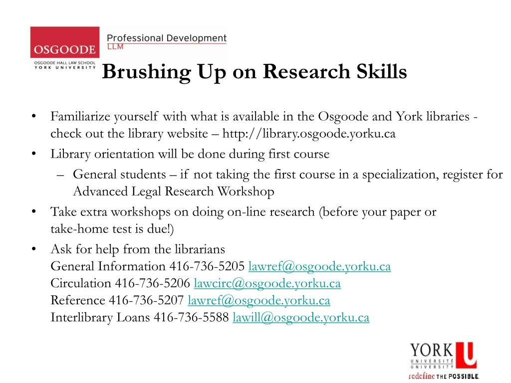 Brushing Up on Research Skills