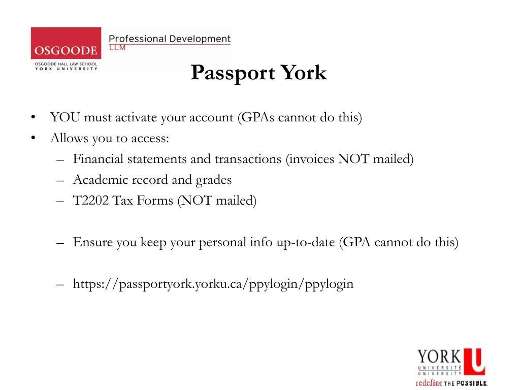 Passport York