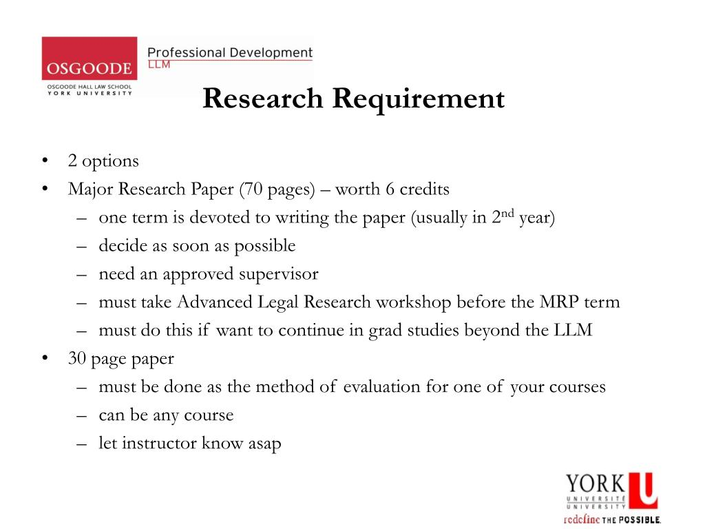 Research Requirement