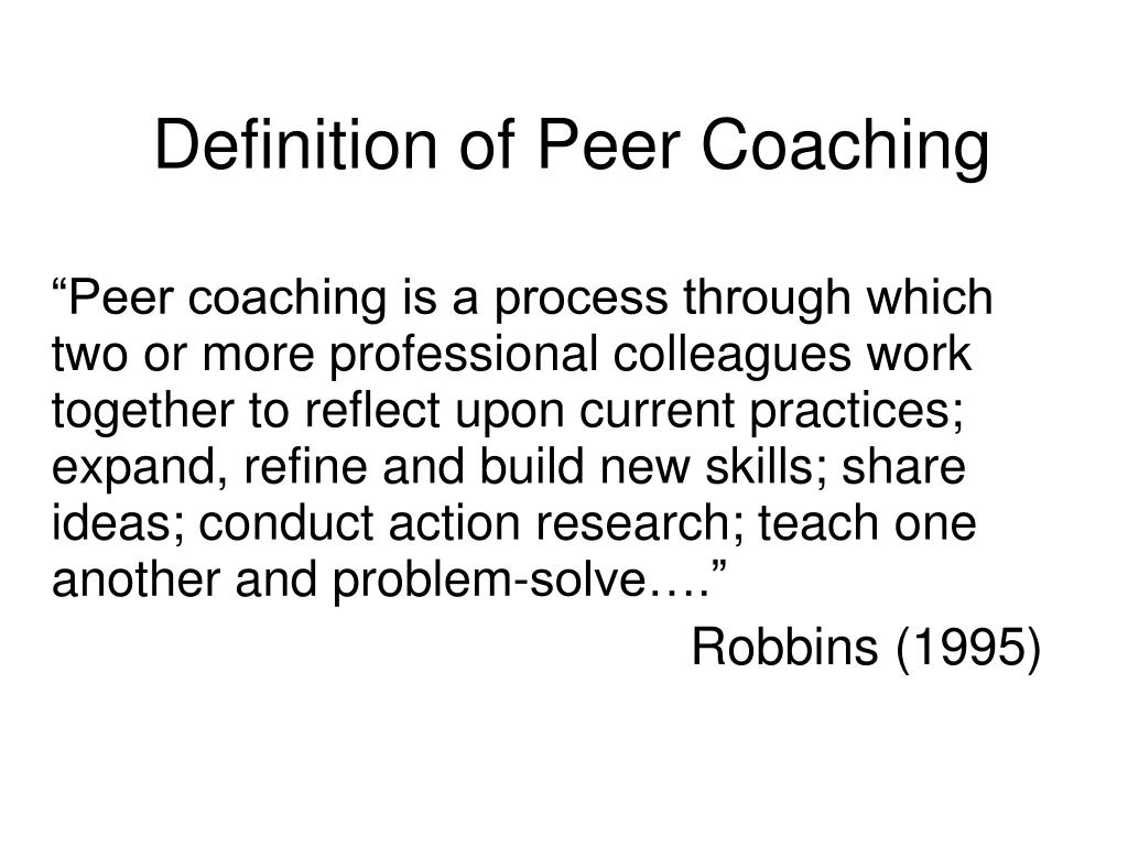 Definition of Peer Coaching