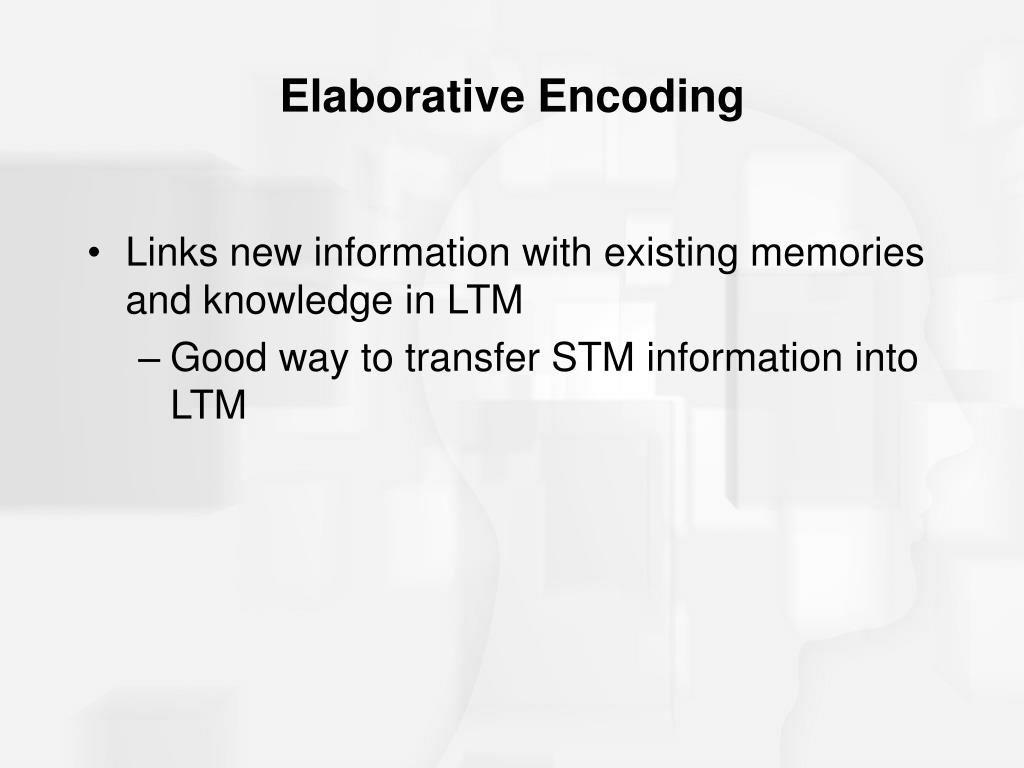 Elaborative Encoding