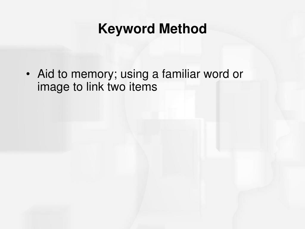 Keyword Method