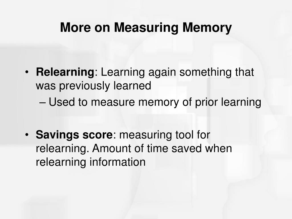 More on Measuring Memory