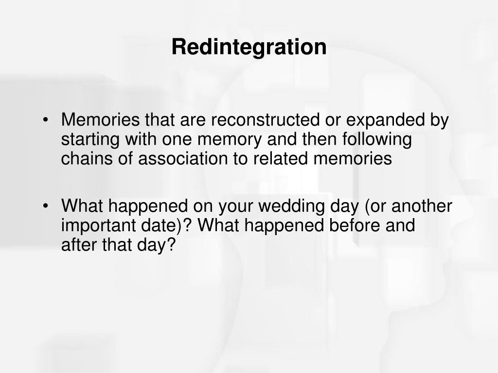 Redintegration
