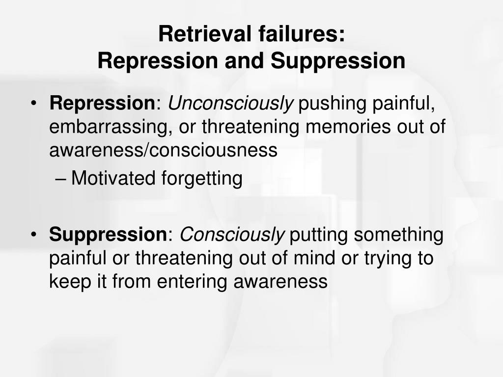 Retrieval failures: