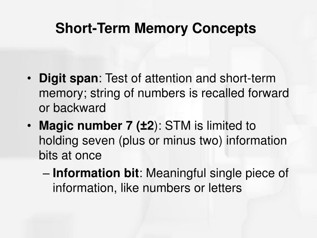 Short-Term Memory Concepts