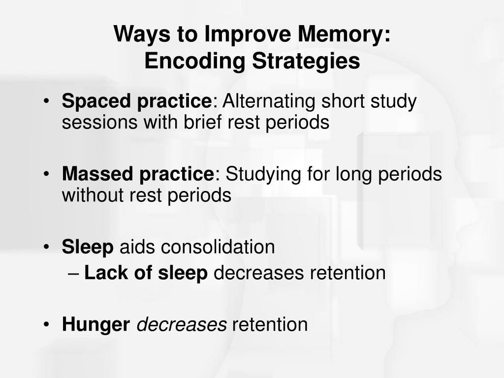 Ways to Improve Memory: