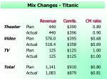 mix changes titanic