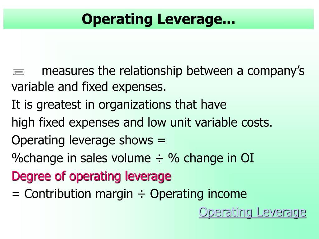 Operating Leverage...