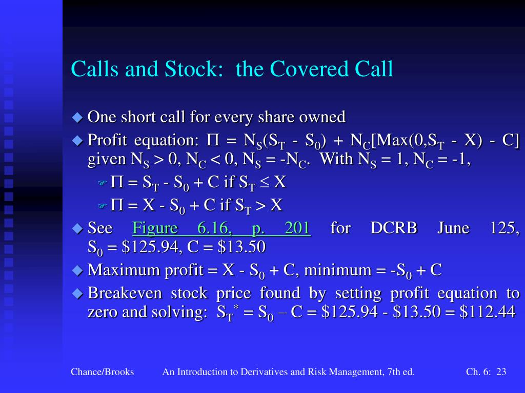 Calls and Stock:  the Covered Call