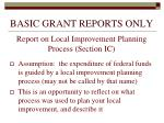 basic grant reports only