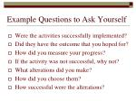 example questions to ask yourself