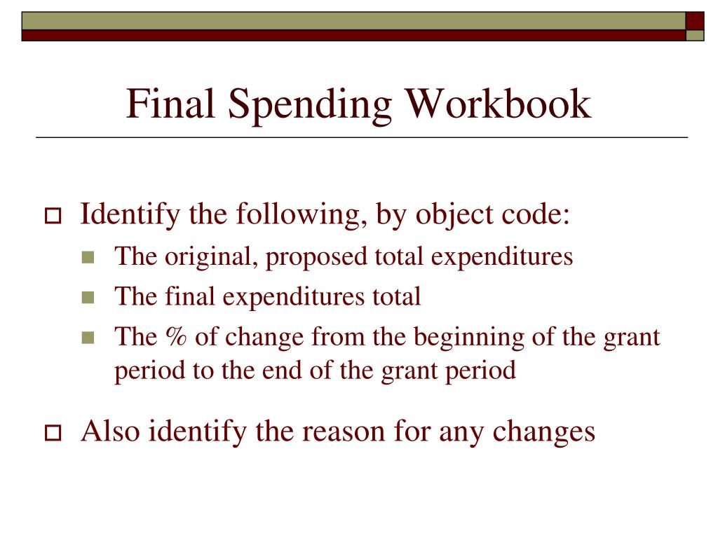 Final Spending Workbook