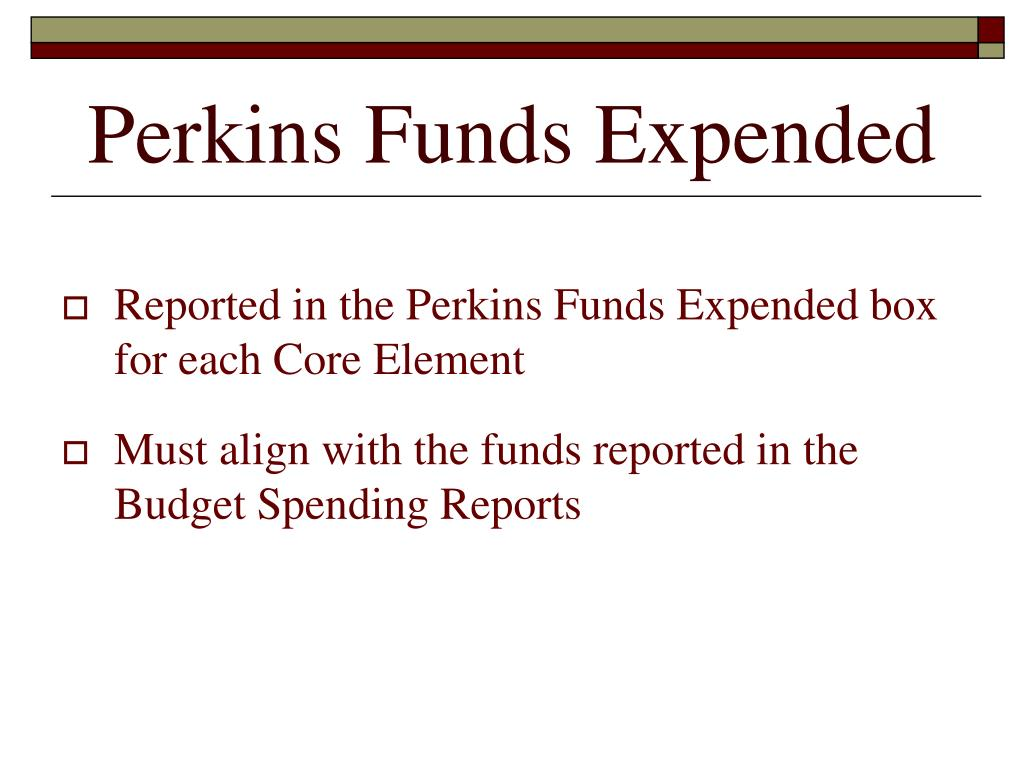 Perkins Funds Expended