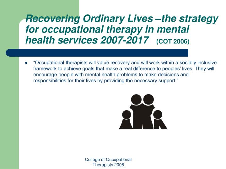 the role of occupational therapy in