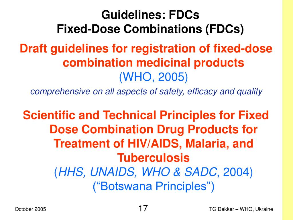 Guidelines: FDCs