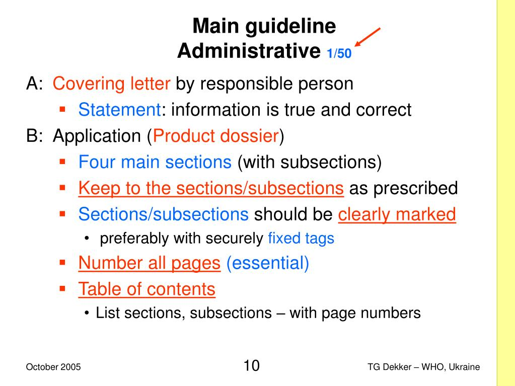 Main guideline