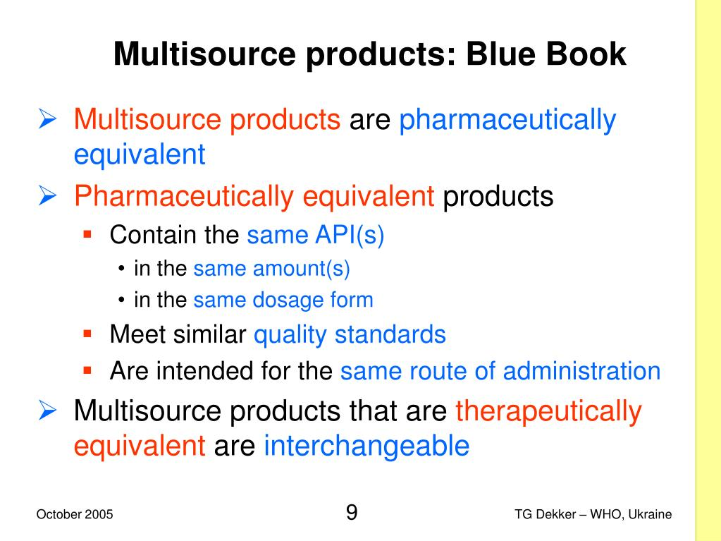 Multisource products: Blue Book