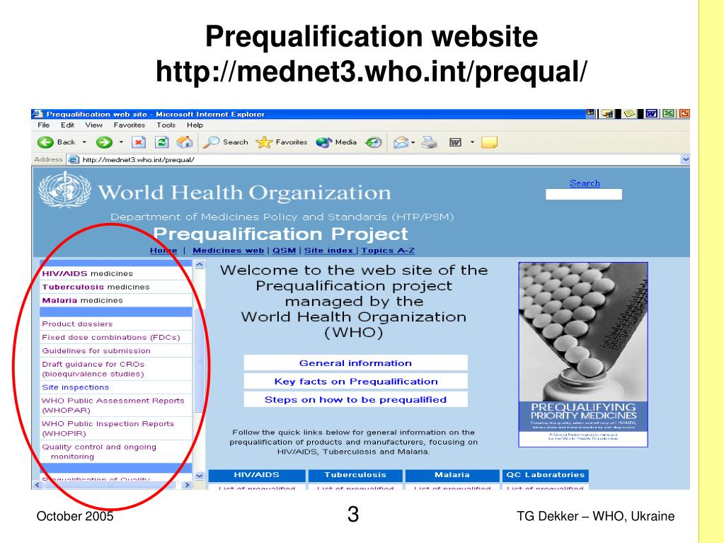 Prequalification website