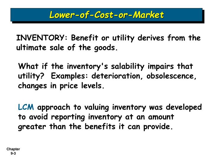 Lower of cost or market l.jpg