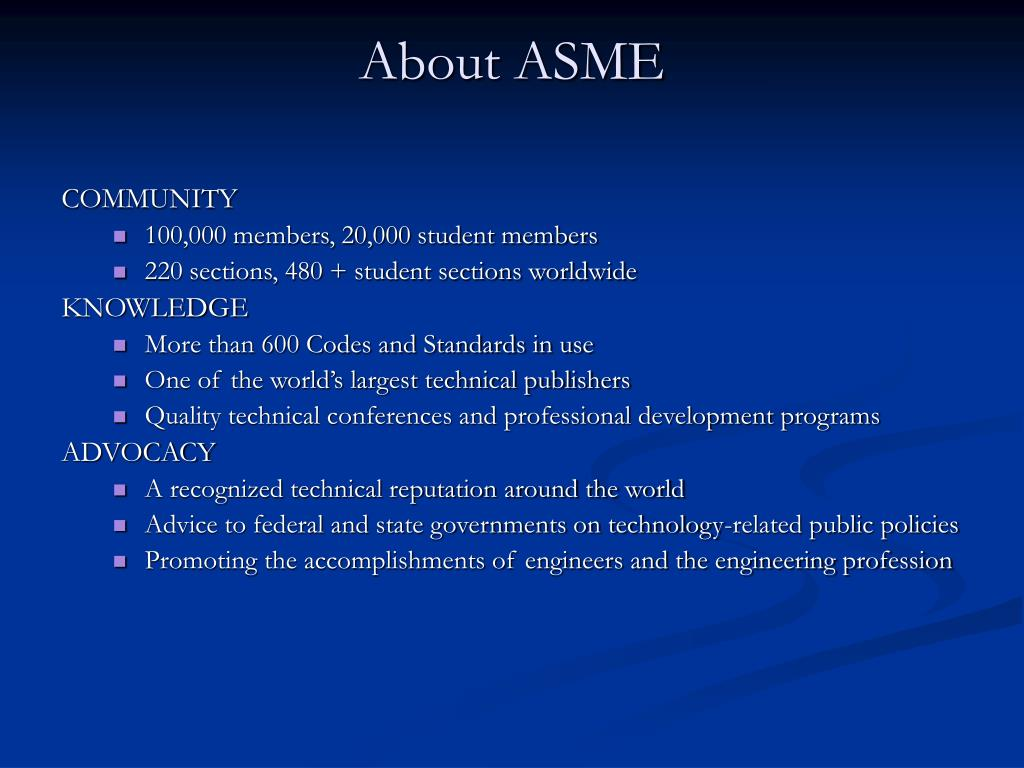 About ASME