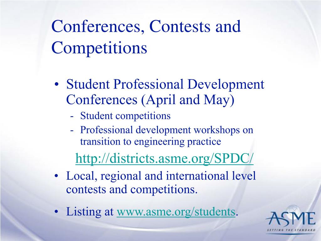 Conferences, Contests and Competitions
