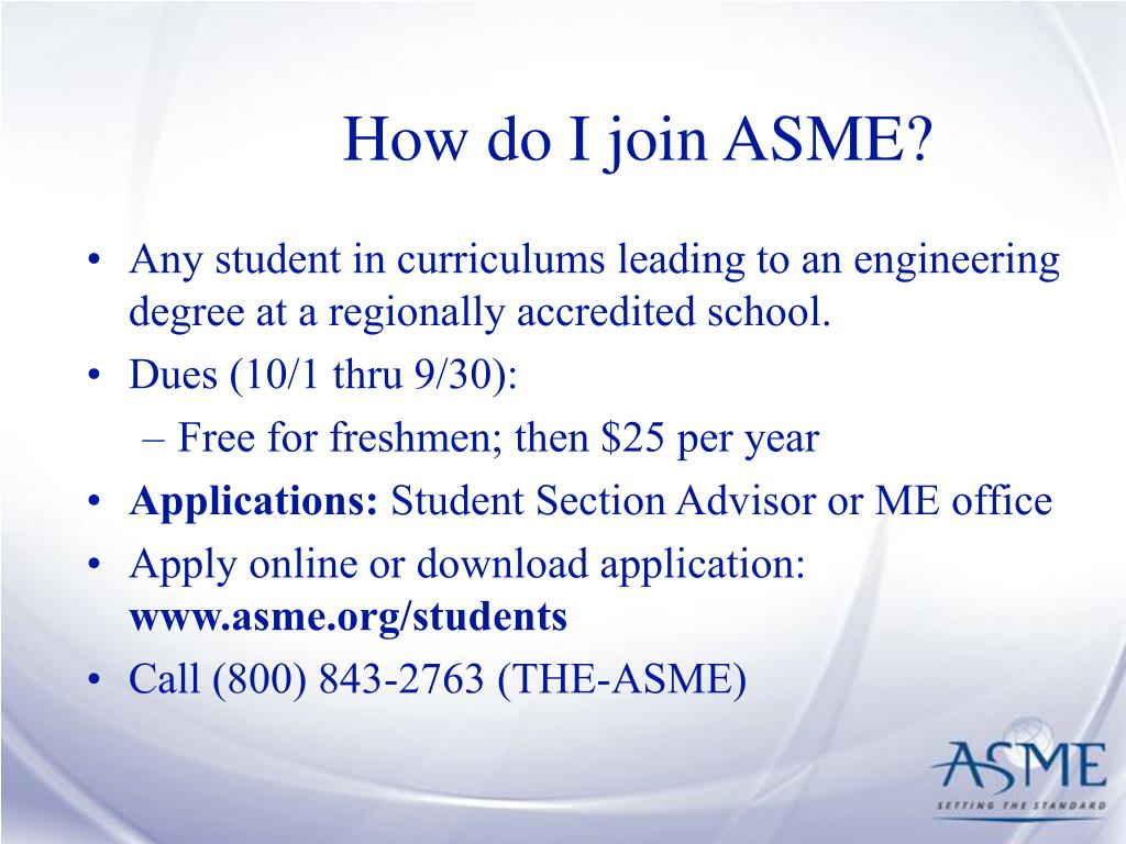 How do I join ASME?
