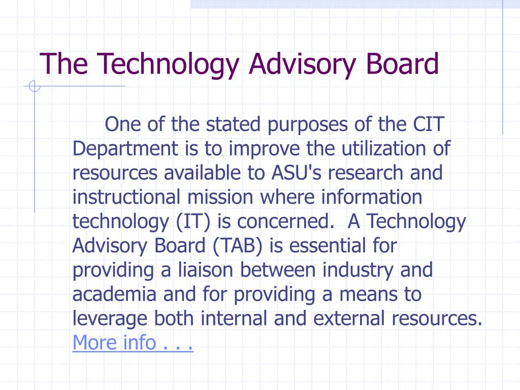 The Technology Advisory Board