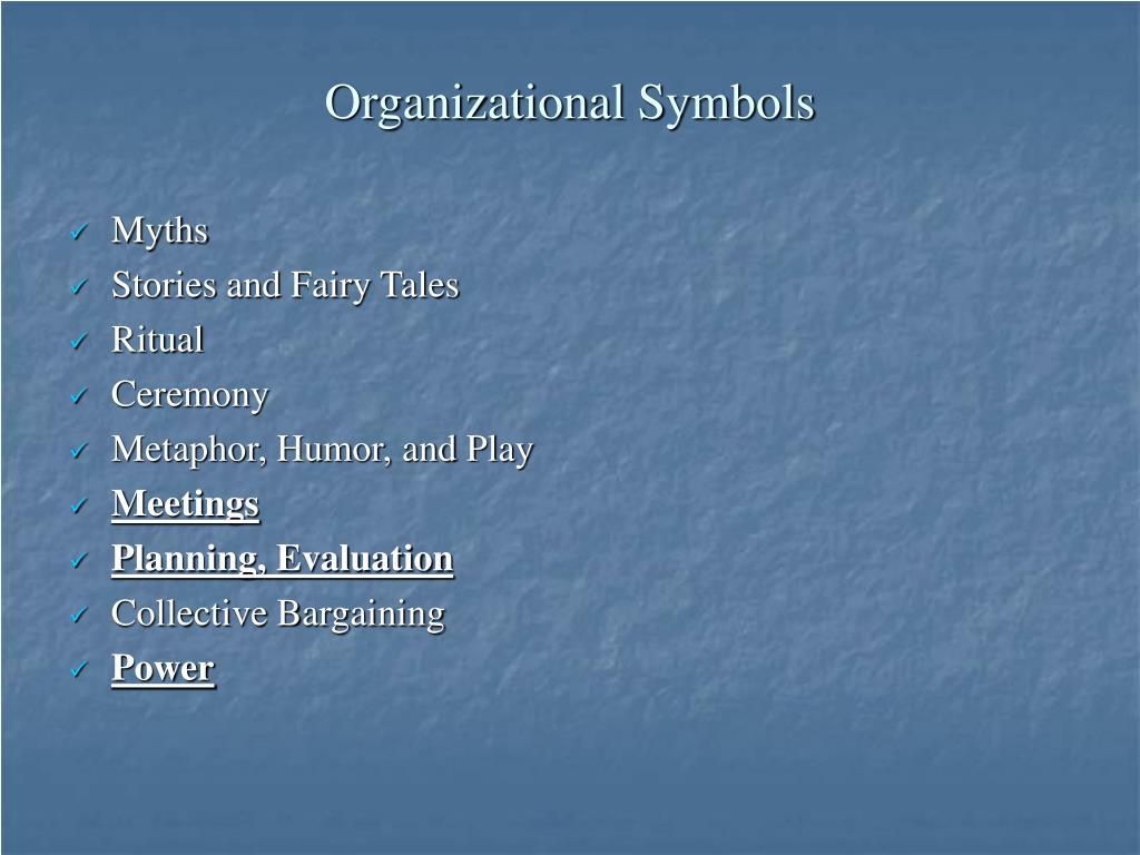Organizational Symbols
