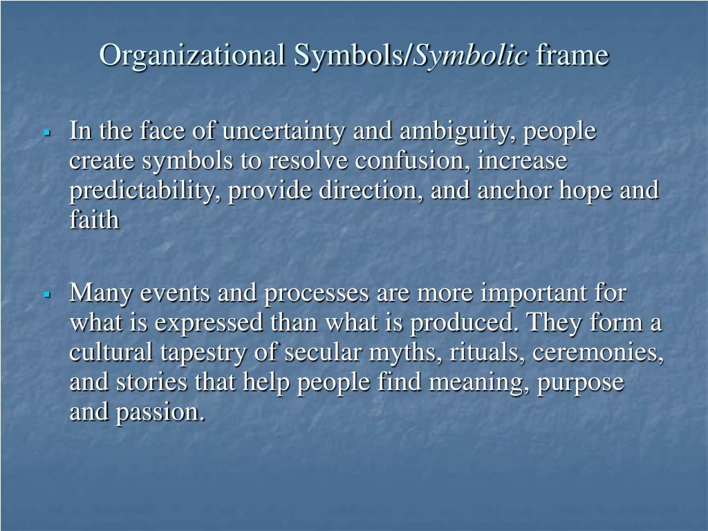Organizational Symbols/
