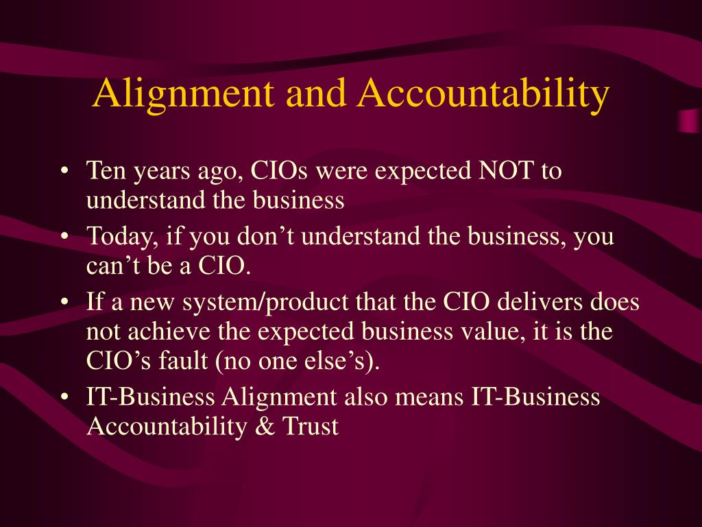 Alignment and Accountability