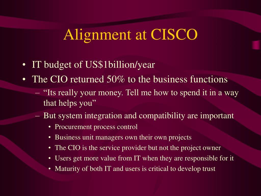 Alignment at CISCO