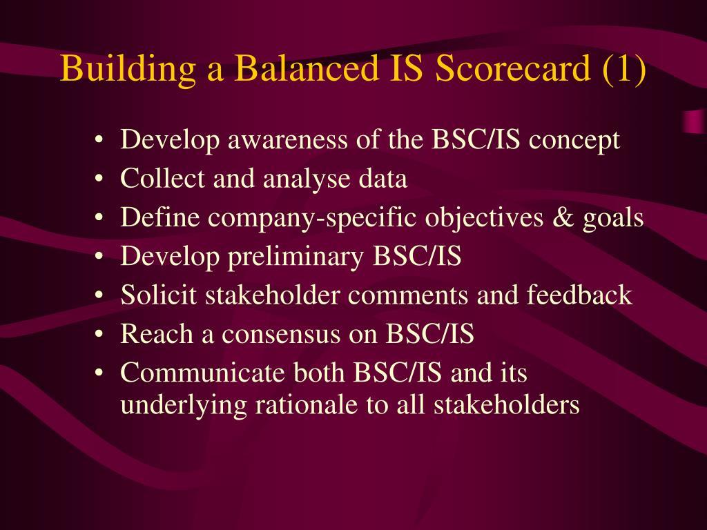Building a Balanced IS Scorecard (1)