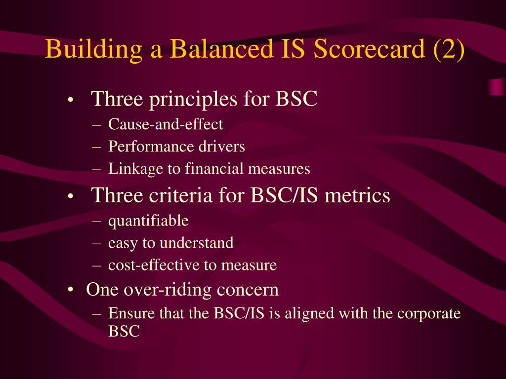 Building a Balanced IS Scorecard (2)
