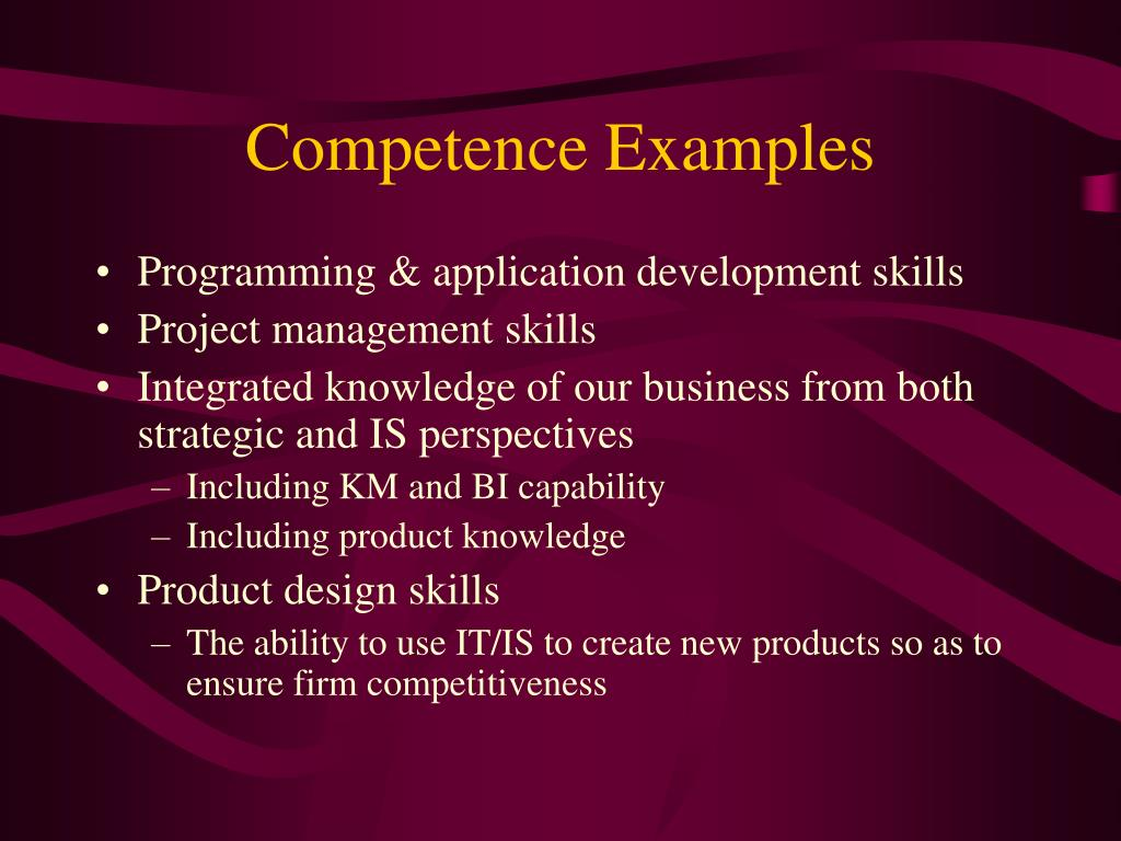 Competence Examples