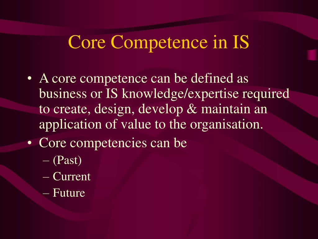 Core Competence in IS