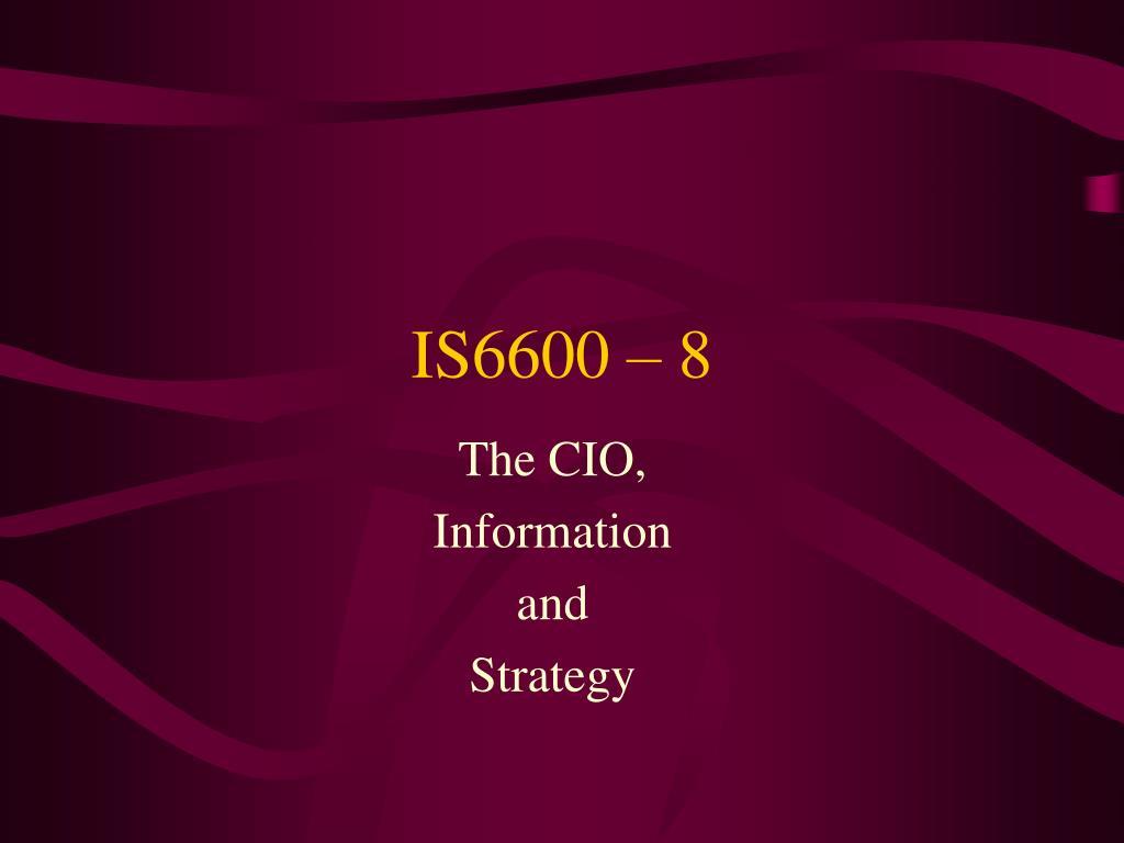 IS6600 – 8