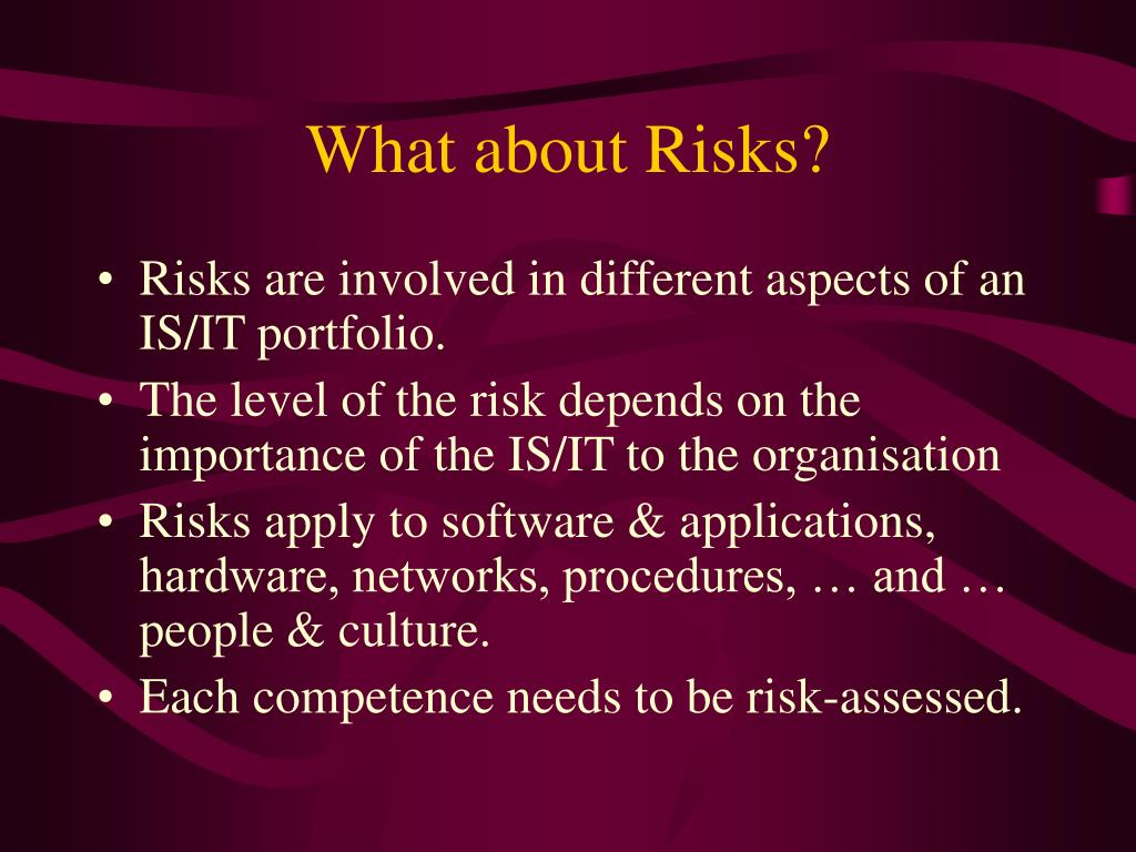 What about Risks?
