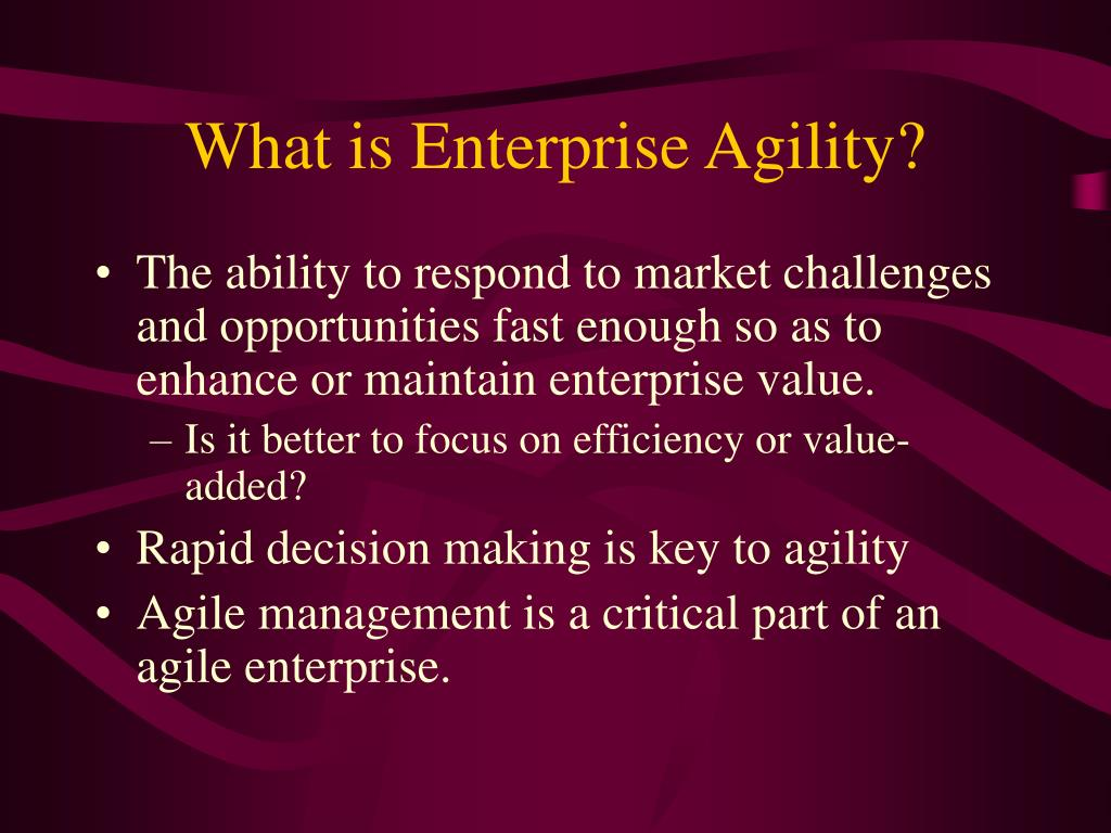What is Enterprise Agility?