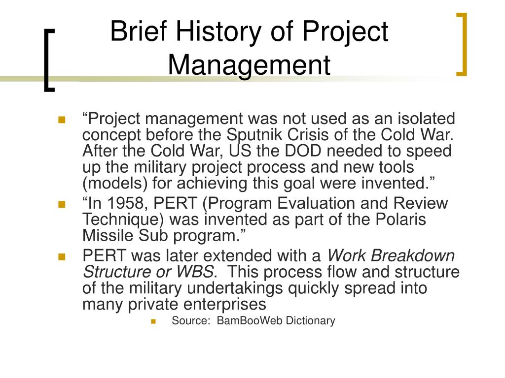 Brief History of Project Management