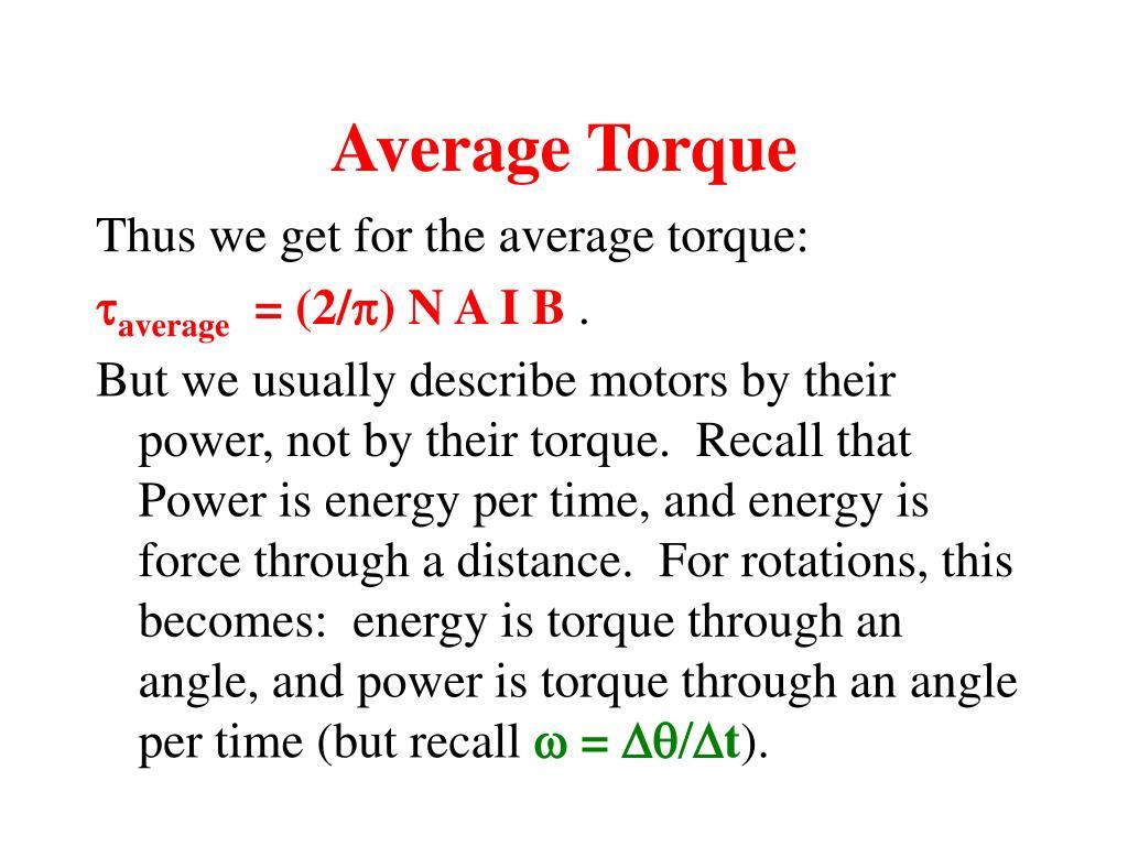 Average Torque