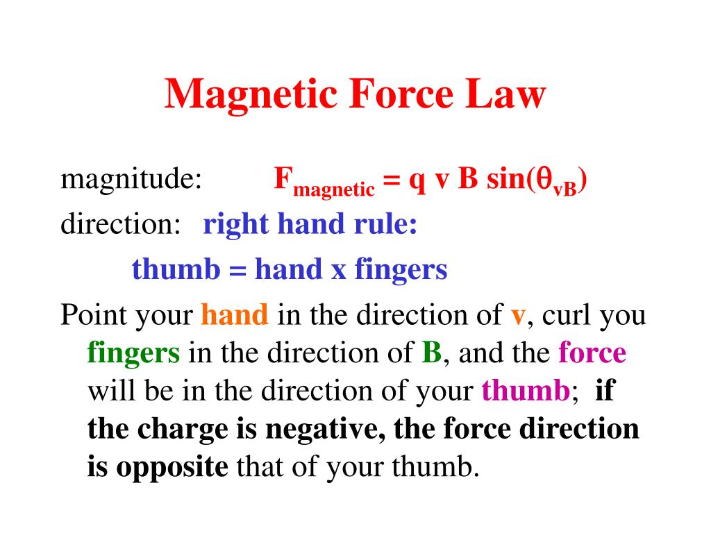Magnetic Force Law