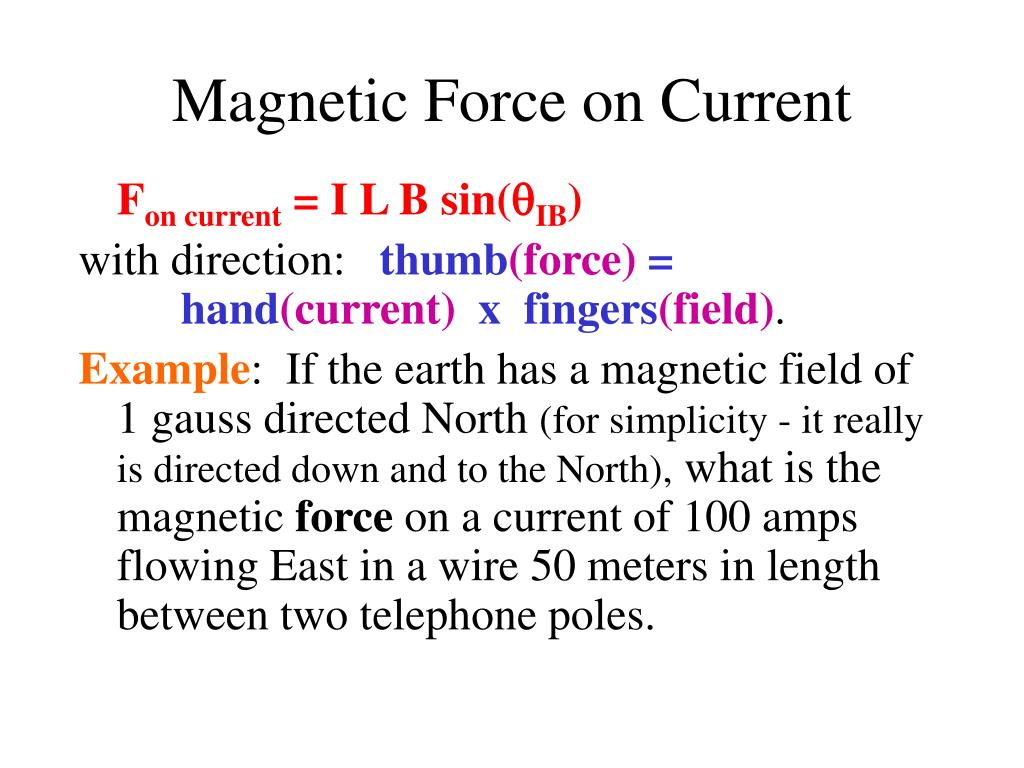Magnetic Force on Current