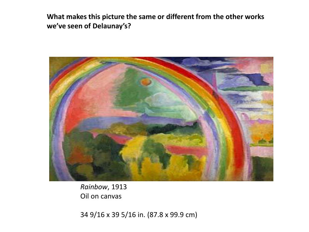 What makes this picture the same or different from the other works we've seen of Delaunay's?